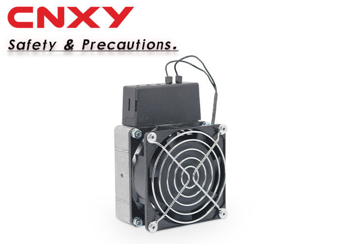 150 W Black Control Cabinet Heater Aluminum Alloy Material With Fan